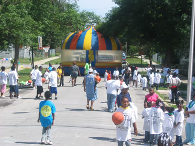 back to school rally in Roseland (Chicago)