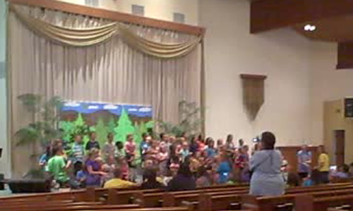 Crete Reformed Church's VBS had a special project to help Urban Missionary Scott Reese and ChristCares.org