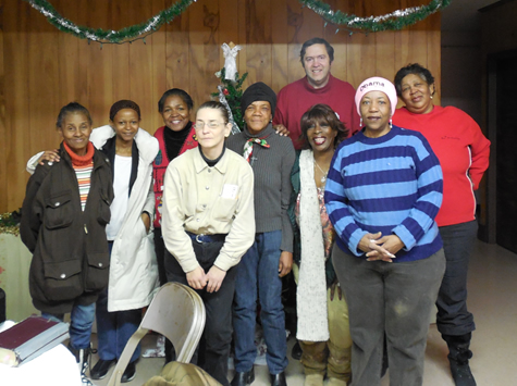 Some of the homeless ladies who attended our Christmas Morning Bible Study