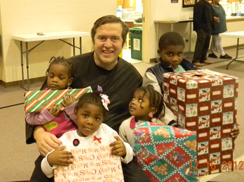 Children receive Christmas Toys due to the generosity of donors.